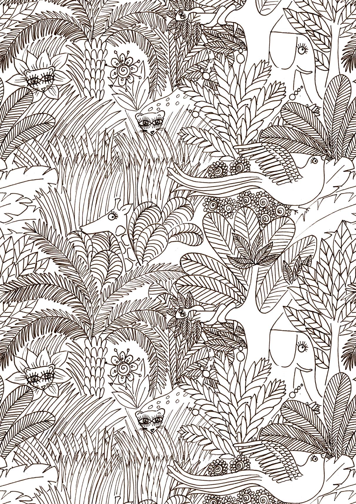 Élégant Coloriage Gratuit à Imprimer Animaux De La Jungle