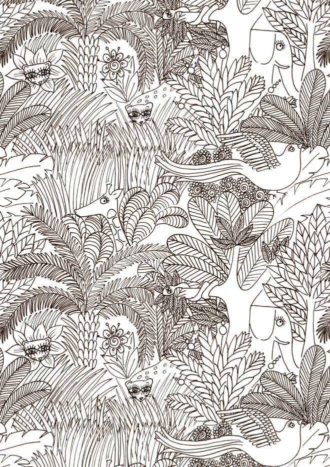 gratuit-coloriage-motif-jungle-free-printable