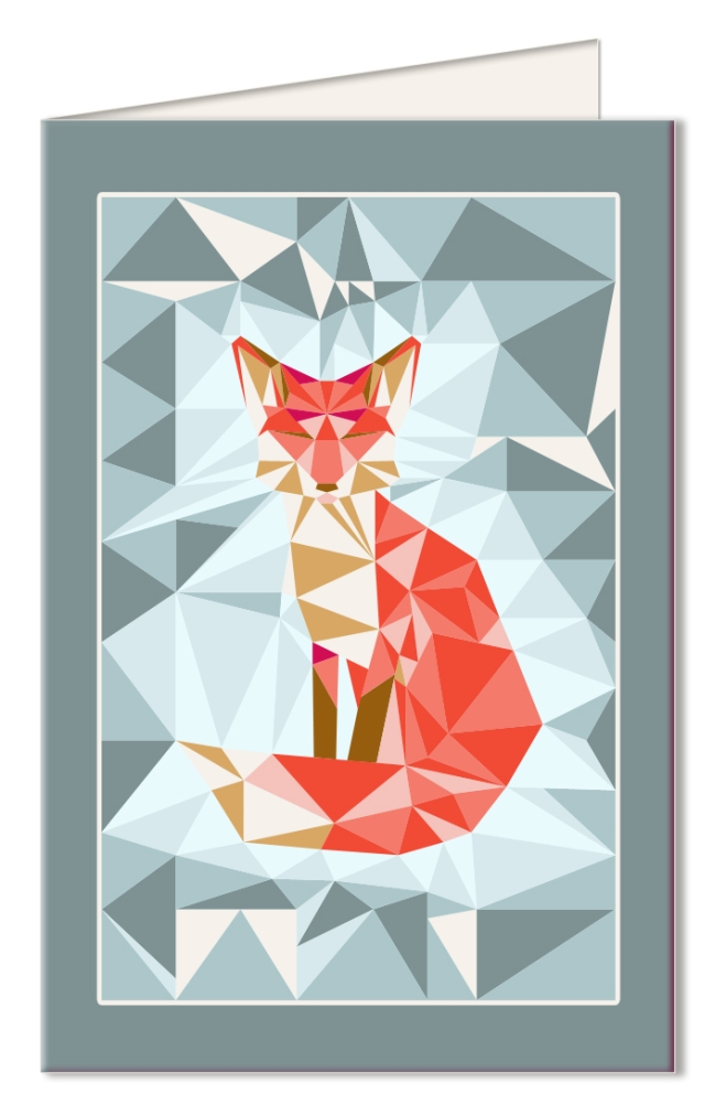 free-printable-card-gratuit-carte-a-imprimer-geodesic-fox-bleu