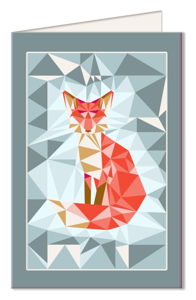 free-printable-card-gratuit-carte-a-imprimer-geodesic-fox-bleu