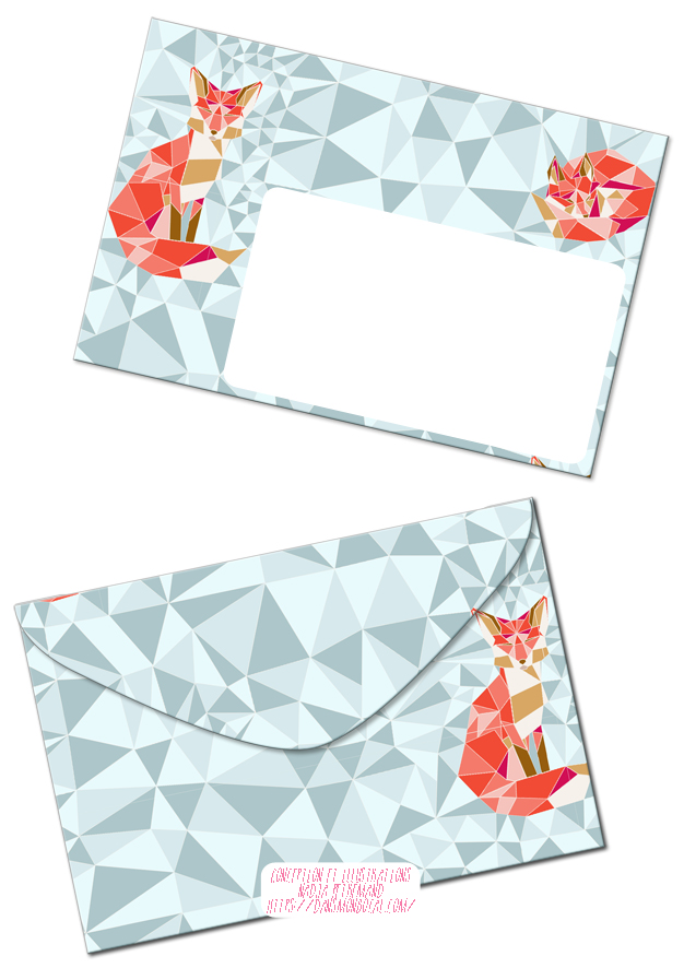 free-printable-enveloppe-gratuit-a-imprimer-motif-geodesic-fox-bleu