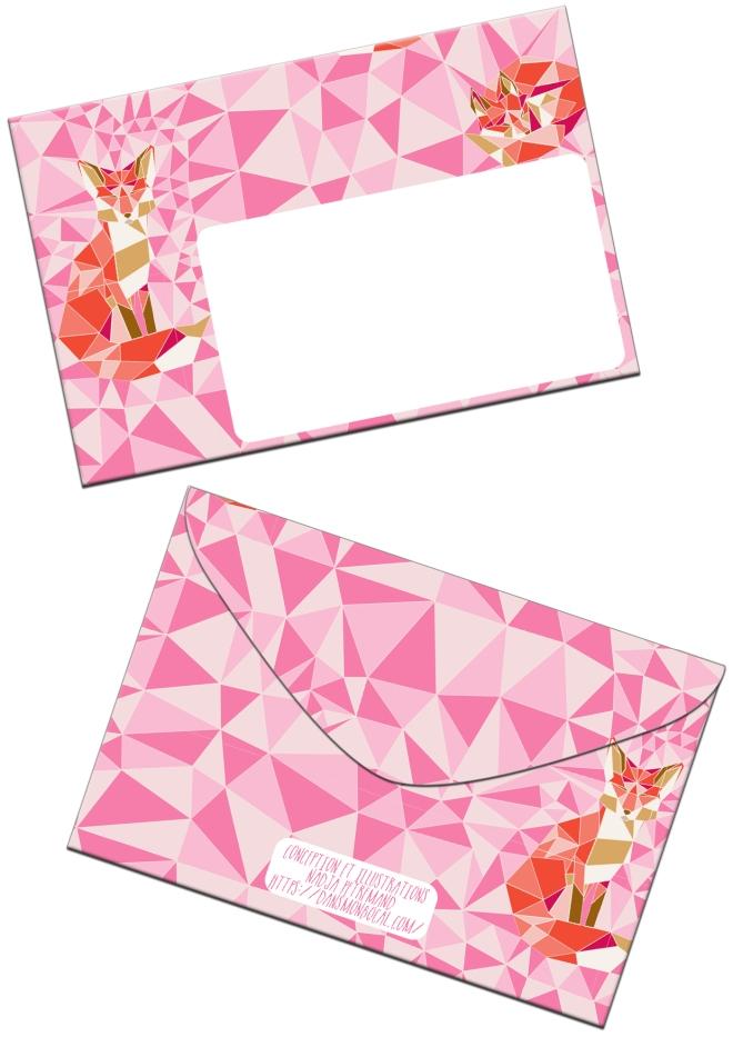 free-printable-enveloppe-gratuit-a-imprimer-motif-geodesic-fox-rose