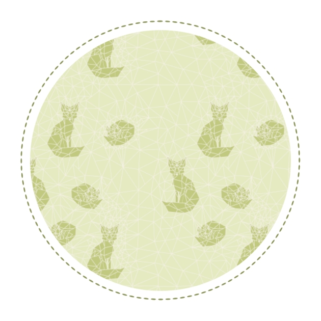 free-printable-pattern-fox-geodesic-green-monochrome