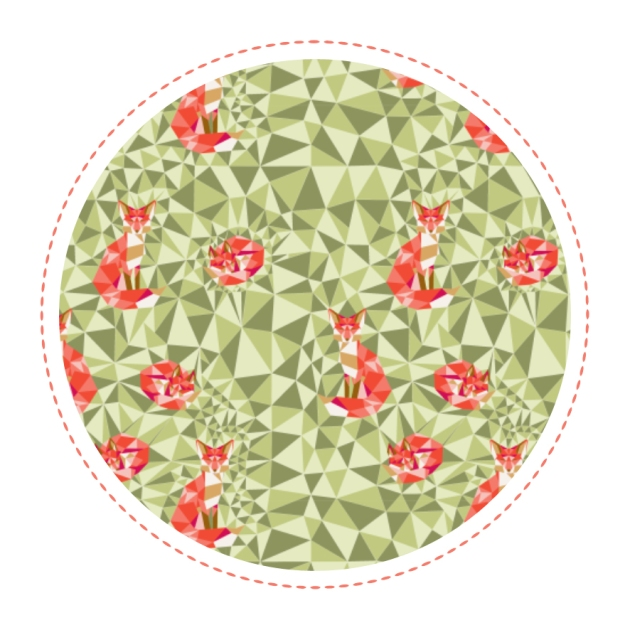 free-printable-pattern-fox-geodesic-green