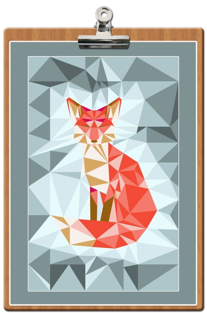 free-printable-poster-fox-geodesic-bleu